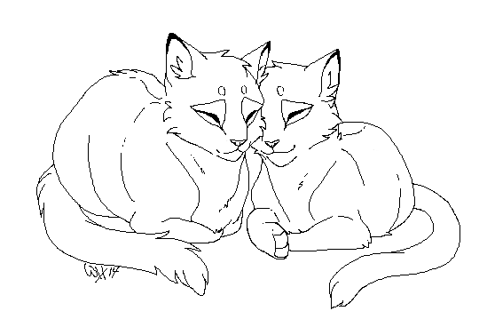 Картинки влюбленных кошек карандашом