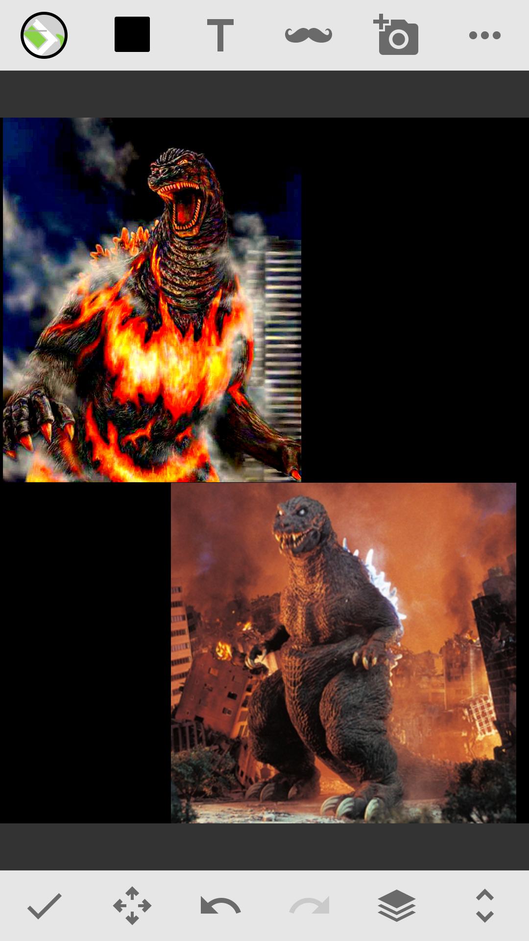 Burning Godzilla Vs GMK Godzilla