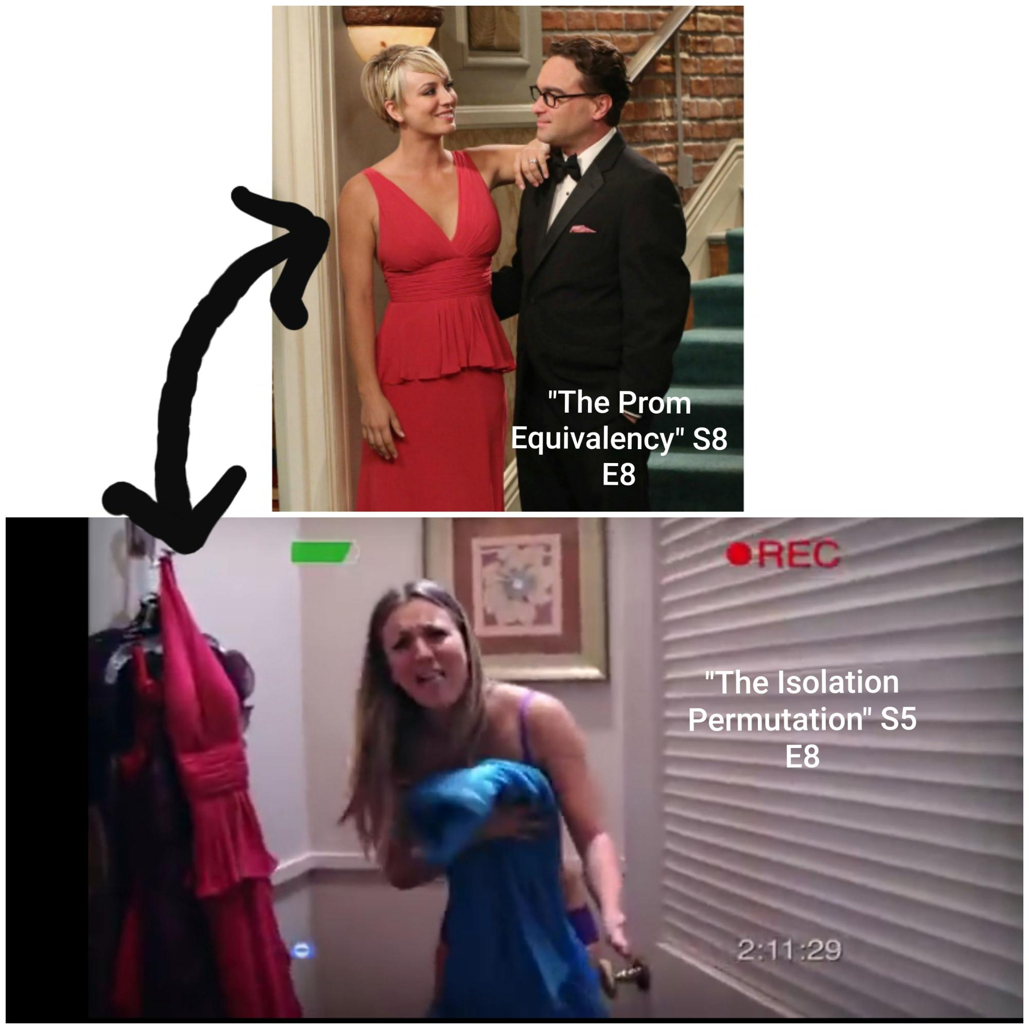 I just noticed this watching TBBT on DVD. Its amazing the things you see when you've watched something 1000 times.