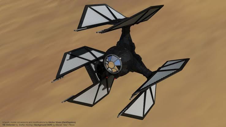 First Order TIE Defender is Season two or tree of star wars Resistance
