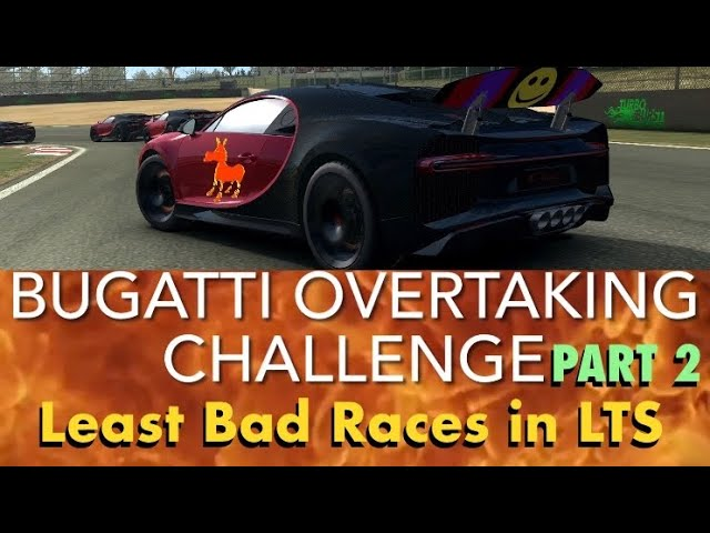 Real Racing 3 RR3 Bugatti Overtaking Challenge Part 2: Least Bad Races in LTS