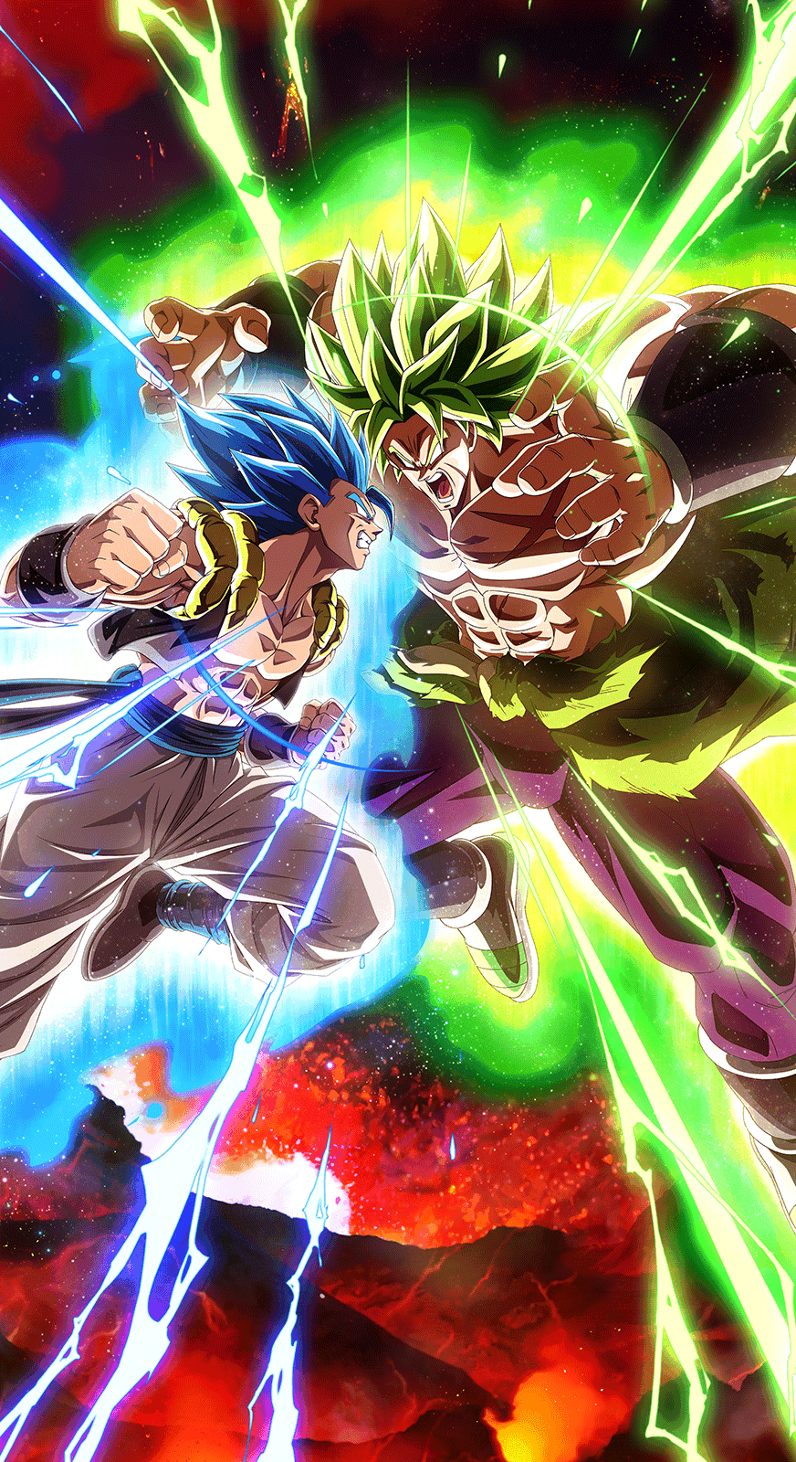 Super Saiyan Blue Gogeta Vs Full Power Broly 5th Year Anniversary