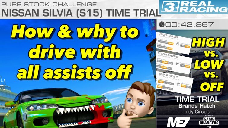 Drive without assists in Real Racing 3