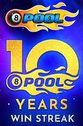 10 years Win Streak Logo