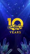 10 Year 8 Ball Pool Logo