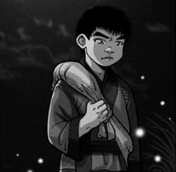 """The boy blubbers."""