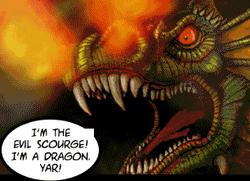 Bikke's pet dragon