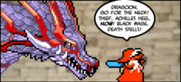 Here's Red Mage playing his recurring role as voluntary cannon fodder.