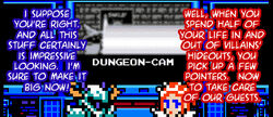 Don't you think you guys should monitor the dungeon-cam?