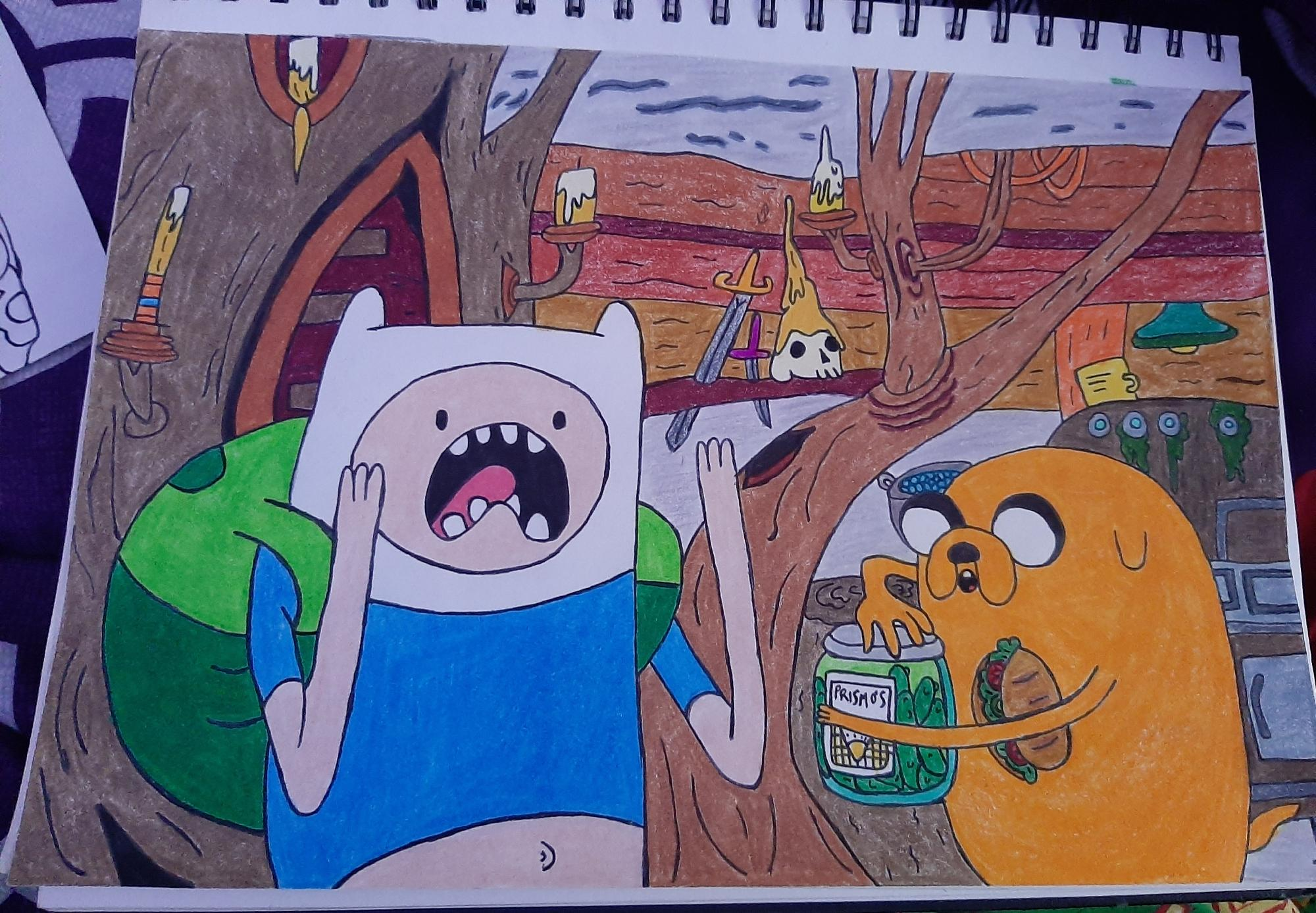 Haven't posted in a while but I'm still drawing ❤ Finn and Jake