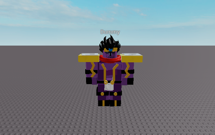 Roblox Jojo Stand Models My First Jojo Model That I Made Excluding Meshes Fandom