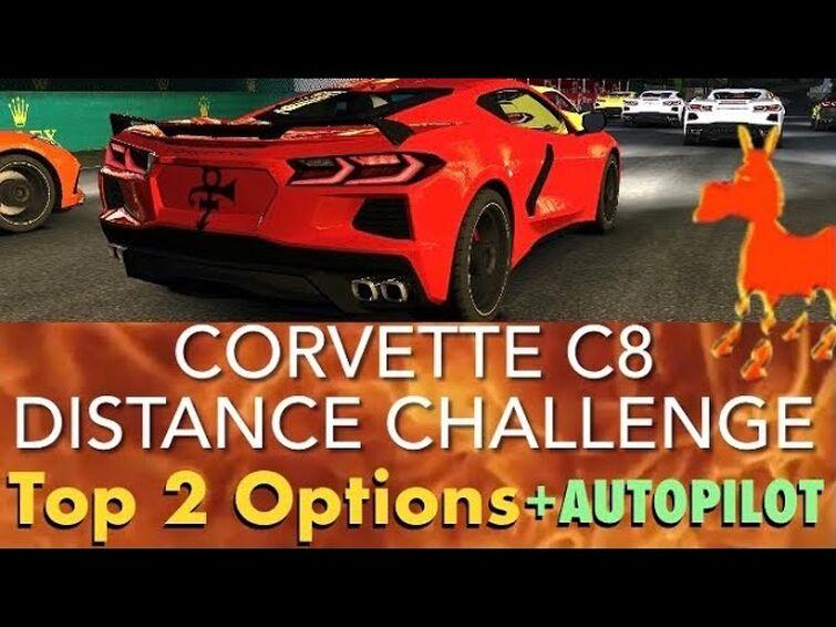 Real Racing 3 RR3 Corvette C8 Distance Challenge: Top 2 Options and Autopilot