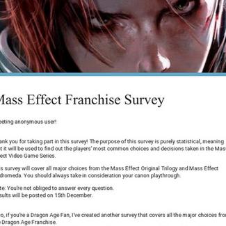 Mass Effect Franchise Survey