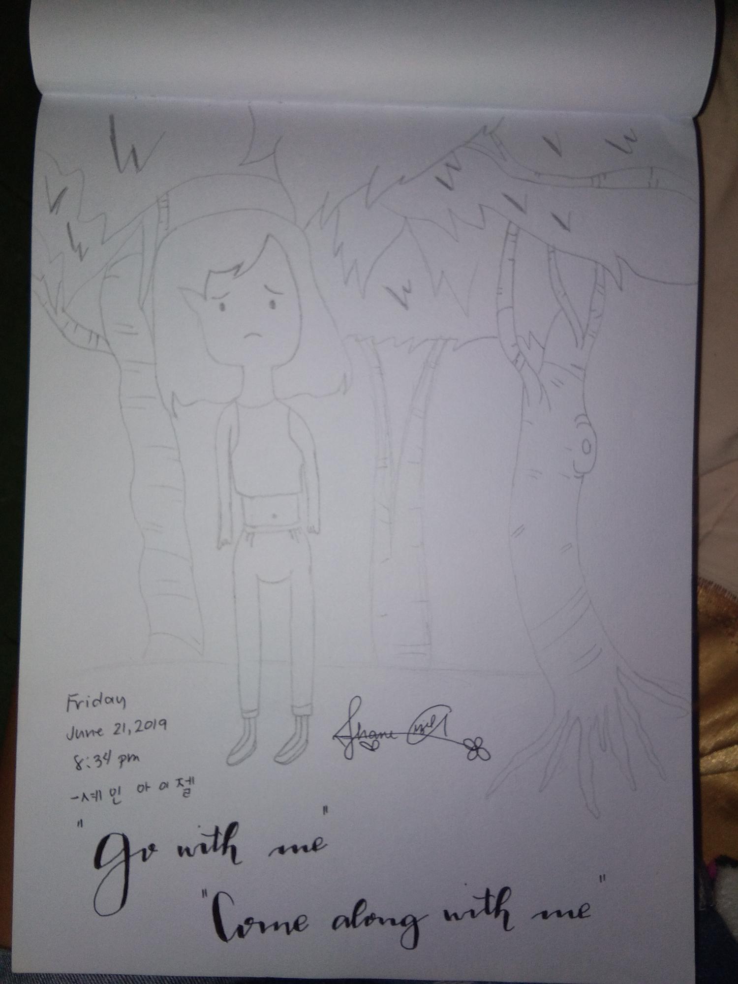 I drew marceline, is it beautiful?