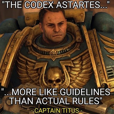 So How Far Will Bobby G Go In Editing The Codex Astartes