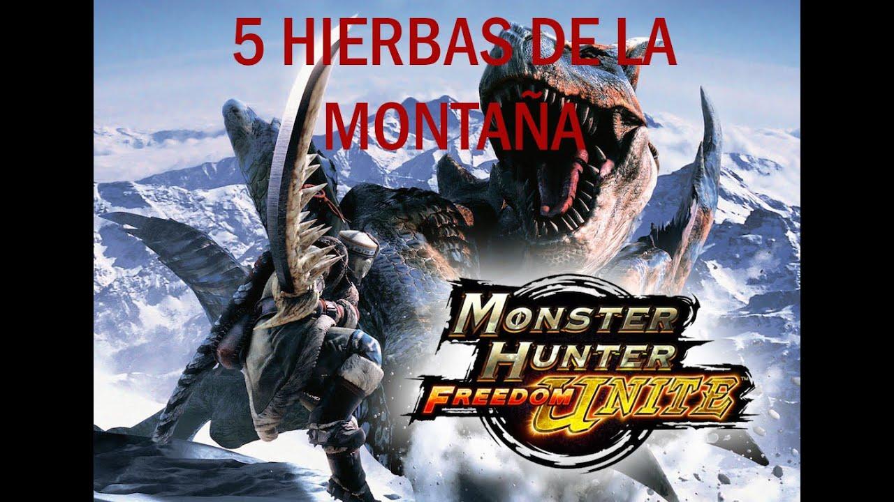 MHFU - 5 Hierbas de la montaña - Monster Hunter Freedom Unite