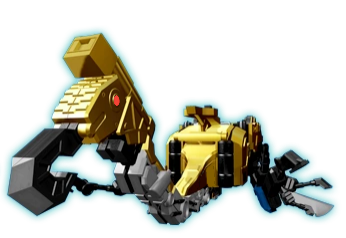 Now this, is a Mantis Zord. All Hasbro has to do is rearrange the eyes, and here you go.