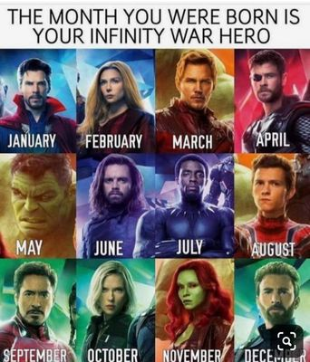 Which Infinity War Character Are You Based On The Month You Were Born?