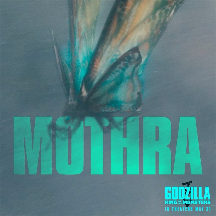 """Godzilla: King of the Monsters on Instagram: """"Mothra. #GodzillaMovie – in theaters May 31. Watch the trailer again at the link in bio."""""""