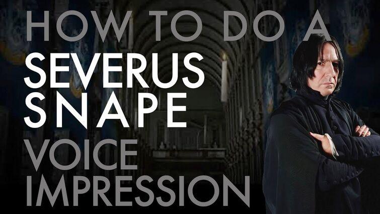 """How To Do A Severus Snape Impression"" - Voice Breakdown Ep. 49"