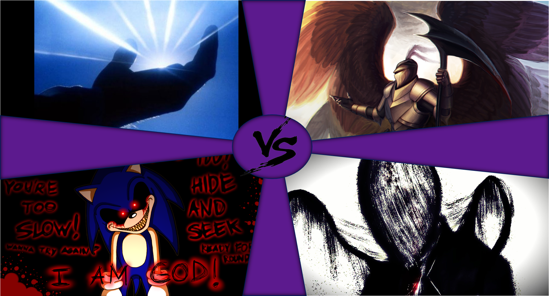 Universal Battle Royale: From this 4 characters, who wins??? Speed is equalized