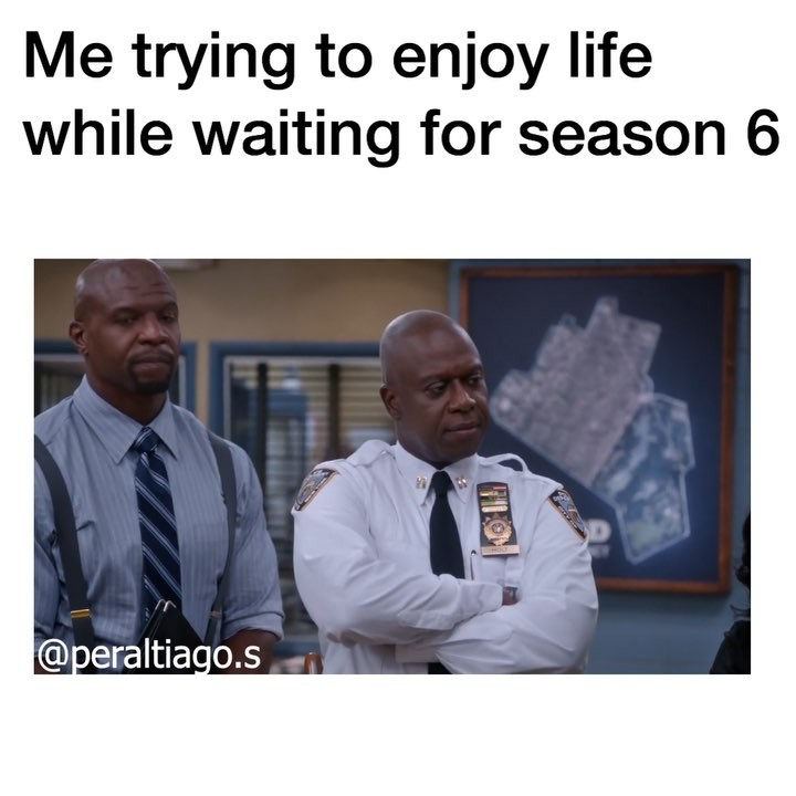 "brooklyn nine nine memes 💓 on Instagram: ""*pretending to have fun while crying inside* - q; what type of phone do you have? 📱 a; I don't have one, I broke it ;) - 1. I NEED SHOW…"""