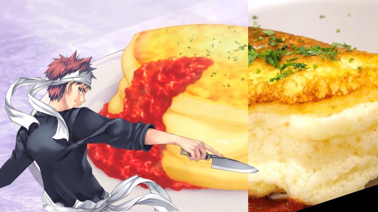 FOOD WARS Omelette Souffle 食戟のソーマ | top anime food - fast omelette cooking | Shokugeki No Souma