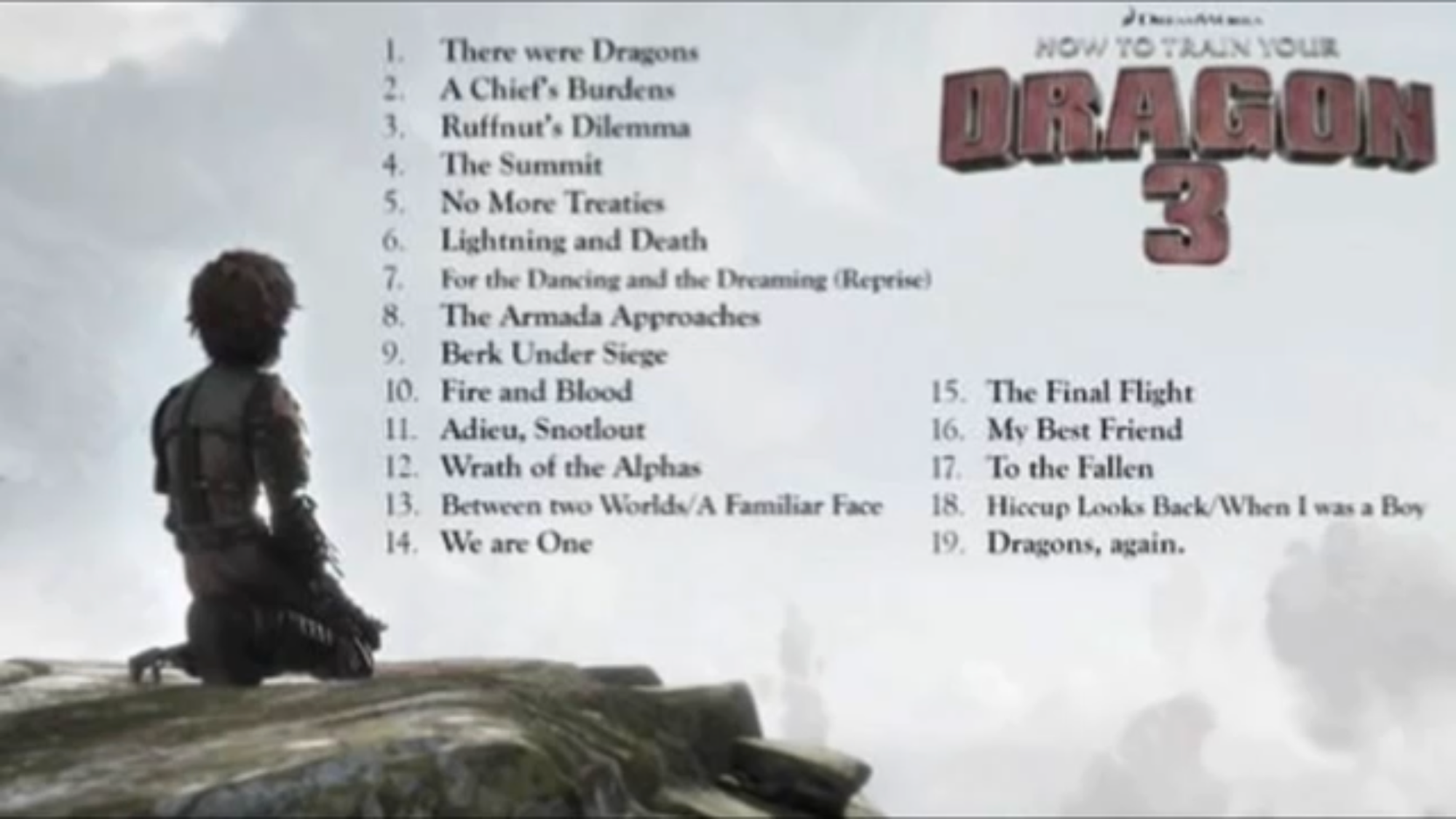Httyd 3 soundtrack discussions how to train your dragon wiki im thinking that if it was the official soundtrack for httyd 3 it would have a how to train your dragon 3 background what do u guys think ccuart Image collections
