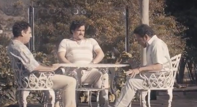 Gilberto and Miguel Rodriguez meeting Pablo Escobar
