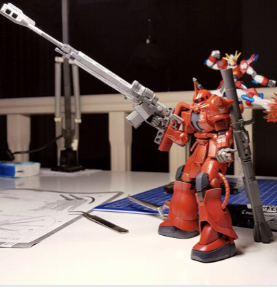 Just finished my Char Zaku 02 mobile suit.