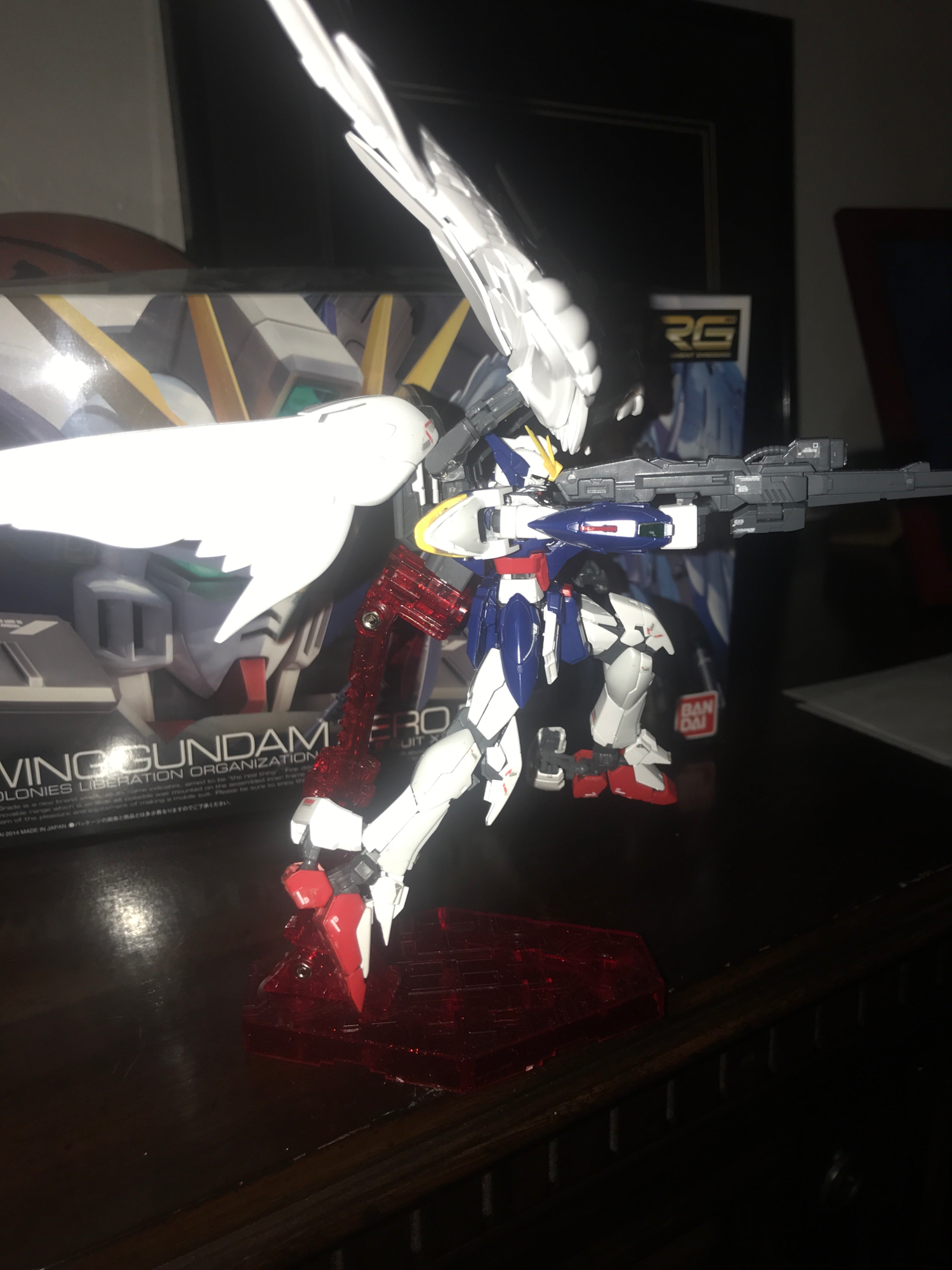 He is a Bad Gundam taking aim