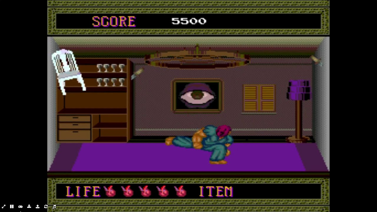 Spatterhouse (Turbo Grafx), game intro and 'Let's Play'