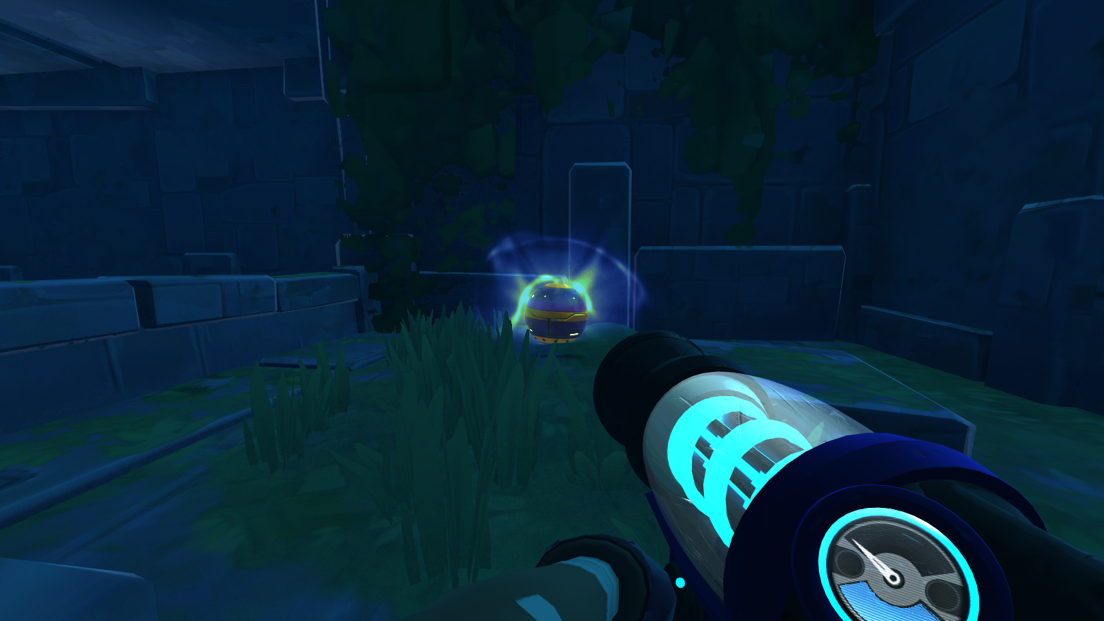 Quantum Slime pod. It's at the end of The Ancient Ruins, on the Way to the Glass Desert Teleporter.