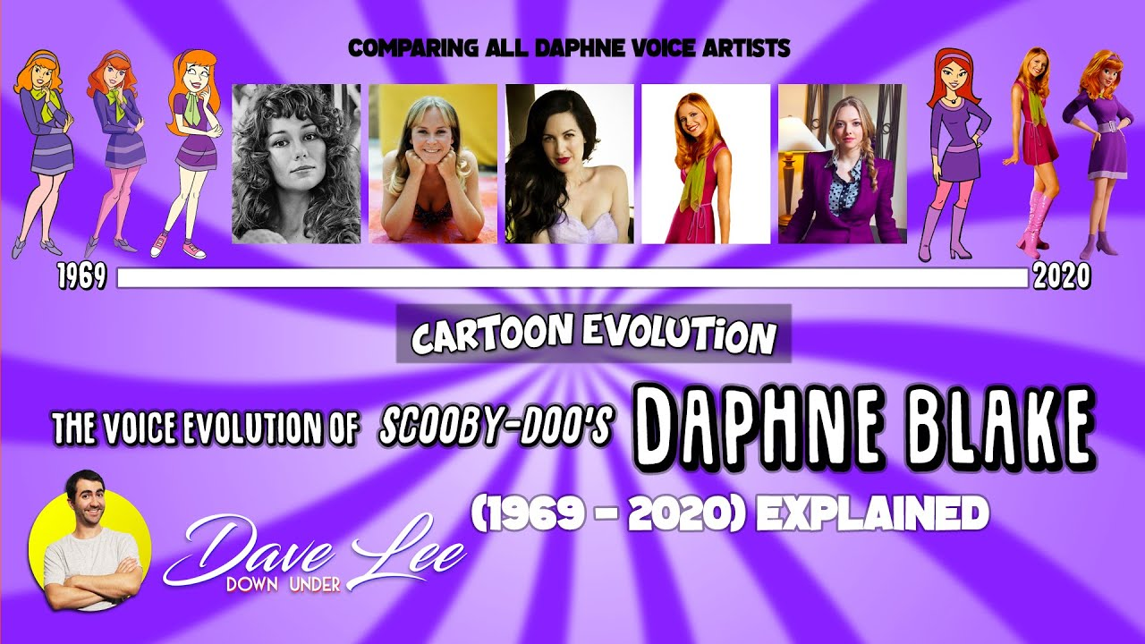 Voice Evolution of DAPHNE BLAKE (SCOOBY-DOO) - 51 Years Compared & Explained | CARTOON EVOLUTION