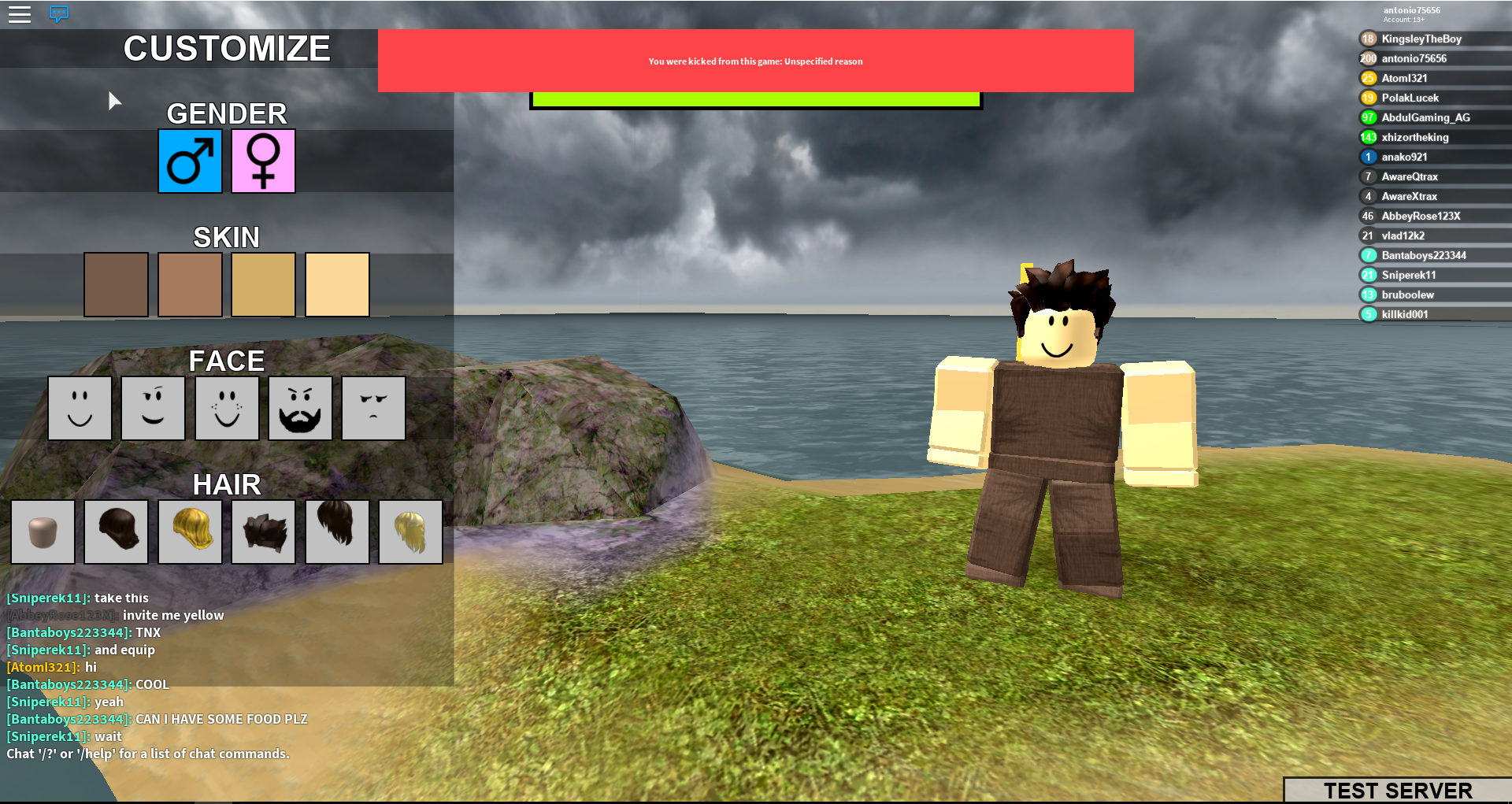 how to fix kicked by server roblox