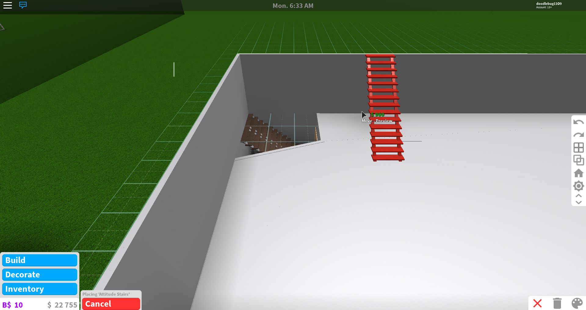 How To Make An Upstairs In Roblox Bloxburg How To Get Bloxburg Can T Place Furniture On Second Floor Fandom