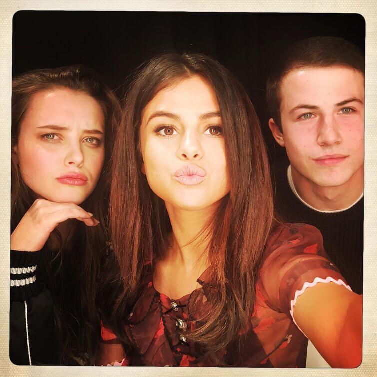 Hannah,Clay,and Selena Gomez?