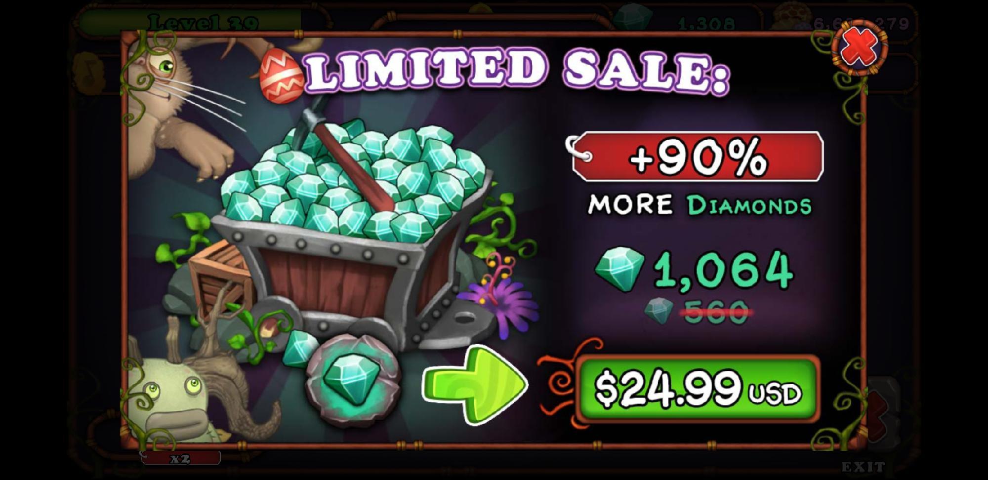 24.99 Diamond Sale Promotion