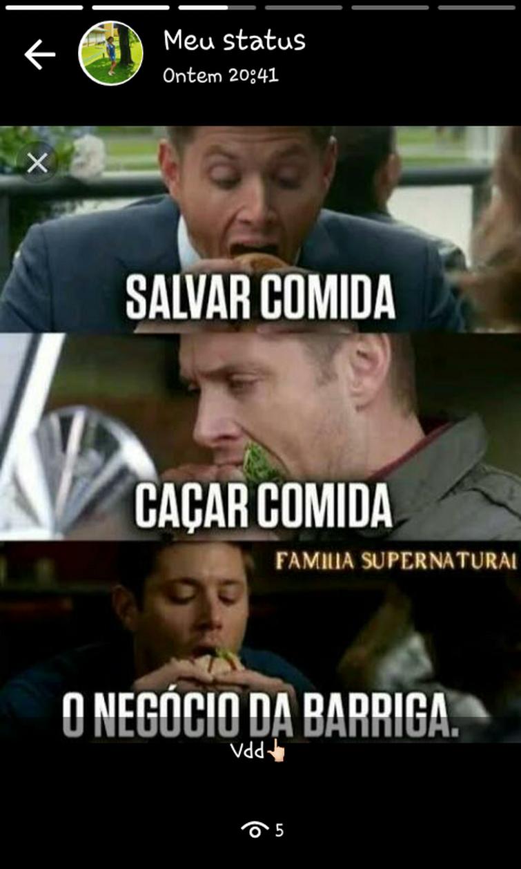Uma coisa que me relaciono com o Dean ❤❤?