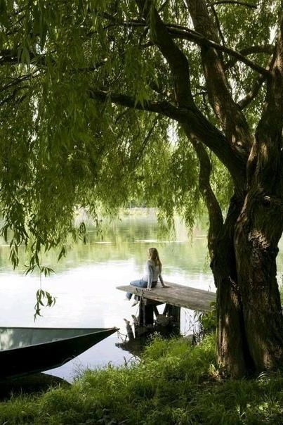 На берегу у озера 🌊
