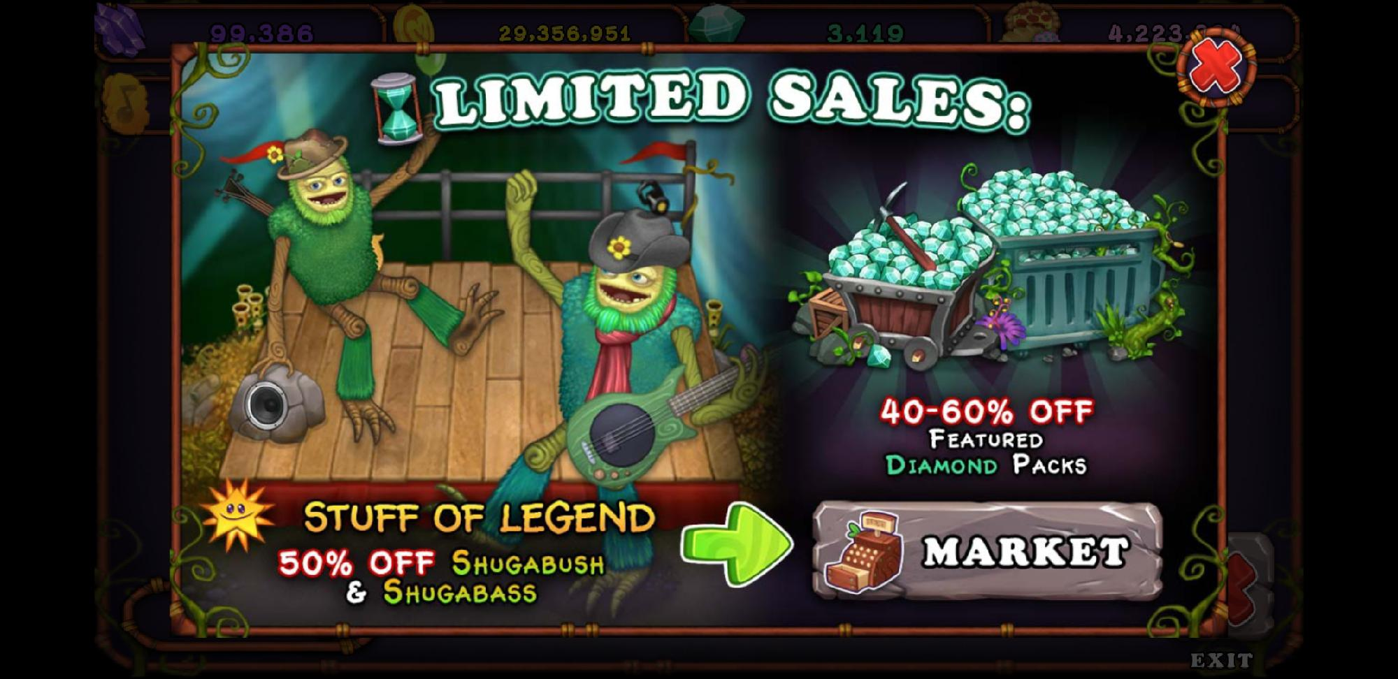 Shugabass And Shugabush Sale Promotion