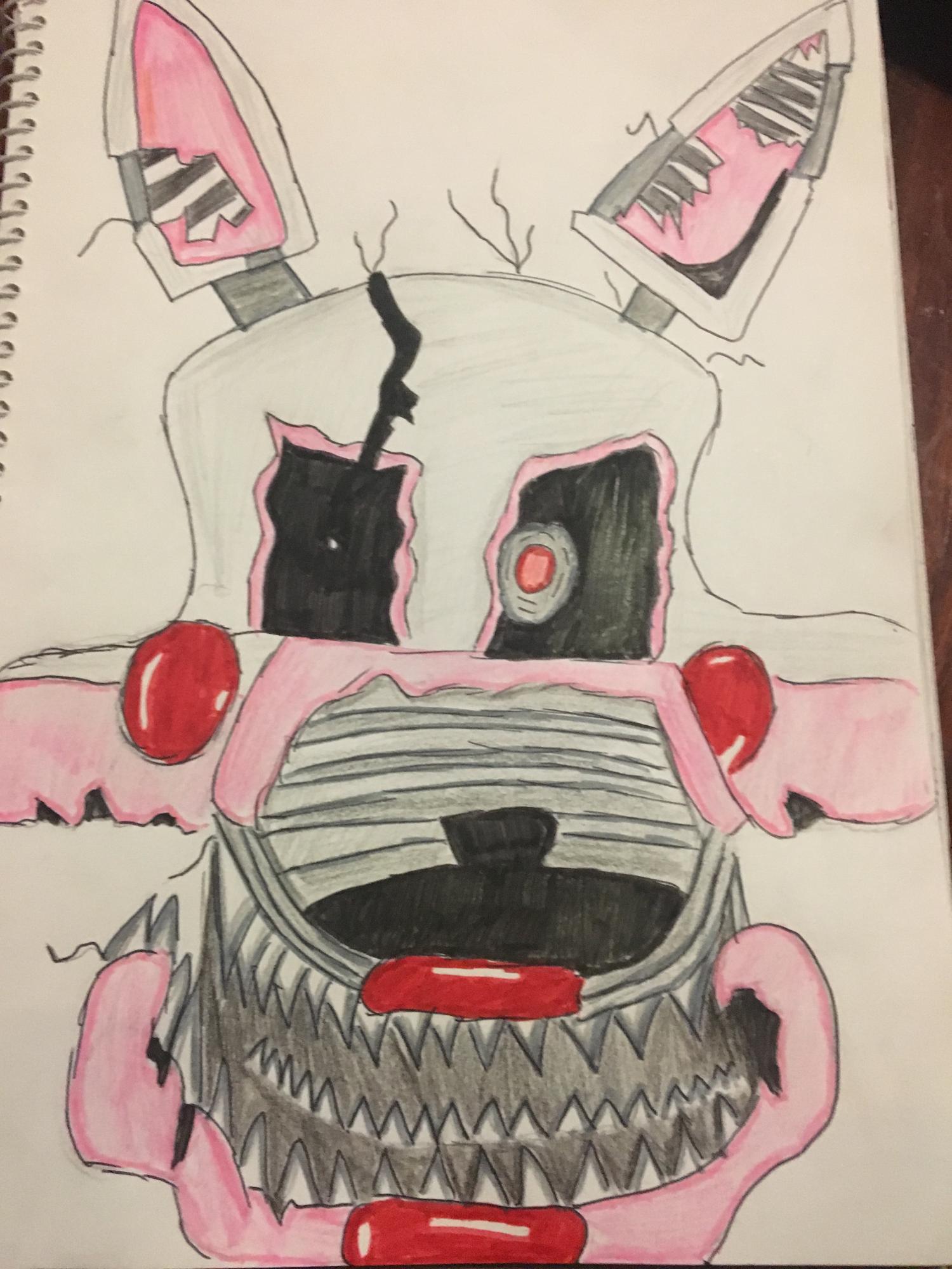 Nightmare Mangle Head Drawing 🙂