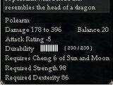 Damaged Dragon Spade