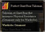 Perfect Giant Bear Talisman