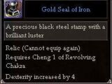 Gold Seal of Iron