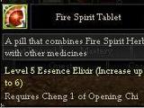 Fire Spirit Tablet
