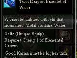Twin Dragon Bracelet of Water