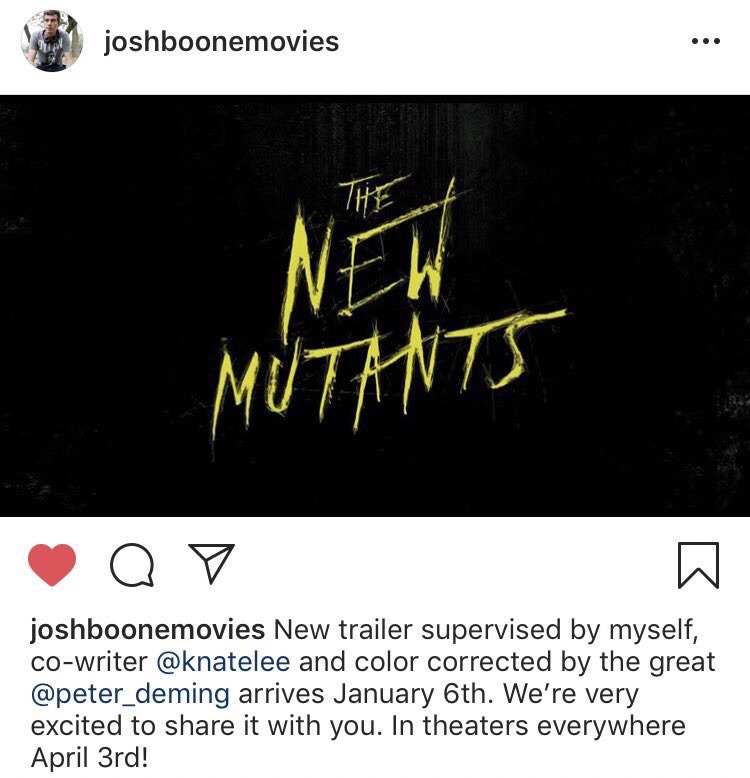 New Mutants Updates on Twitter