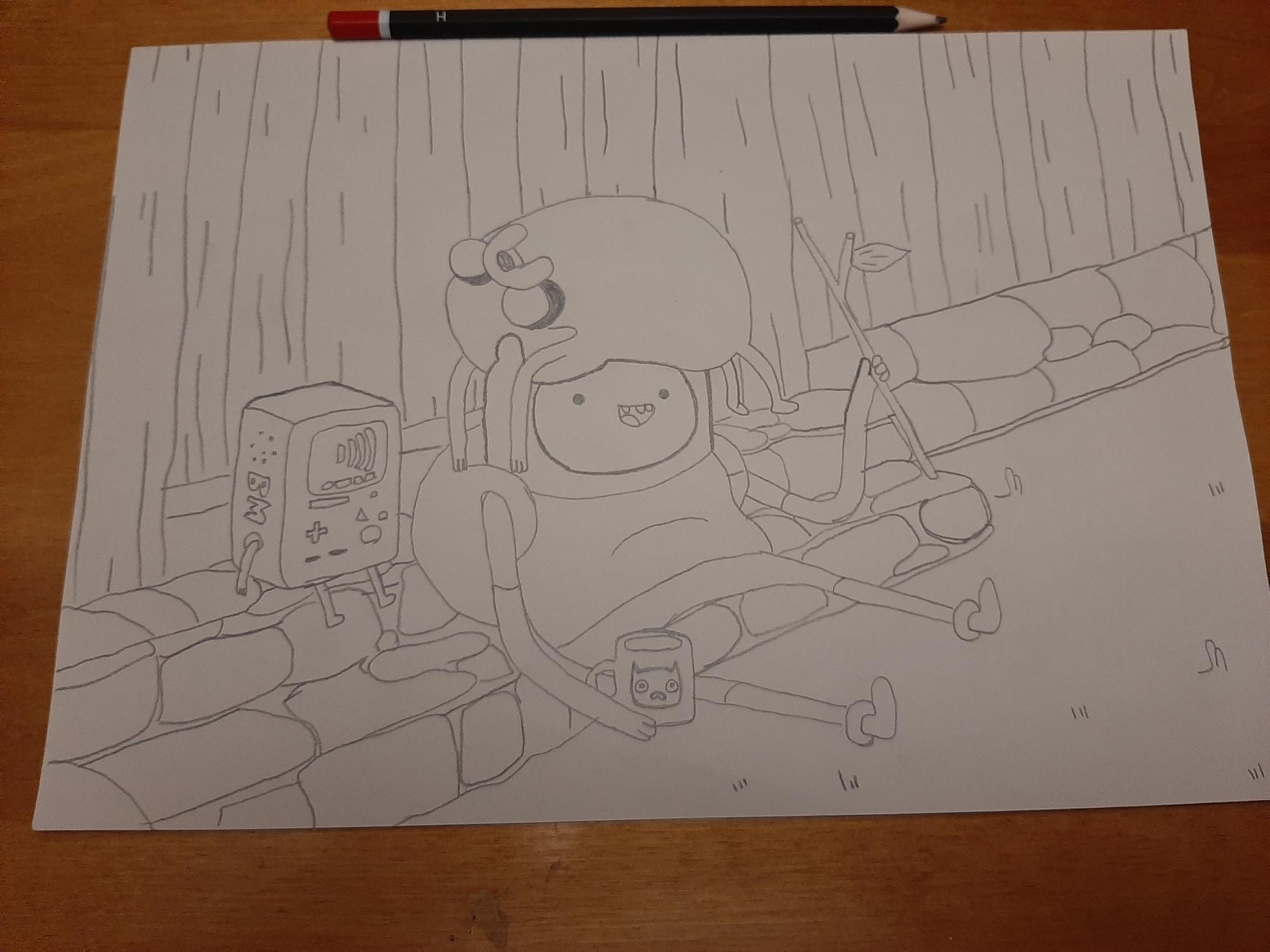 BMO, Finn and Jake unfinished