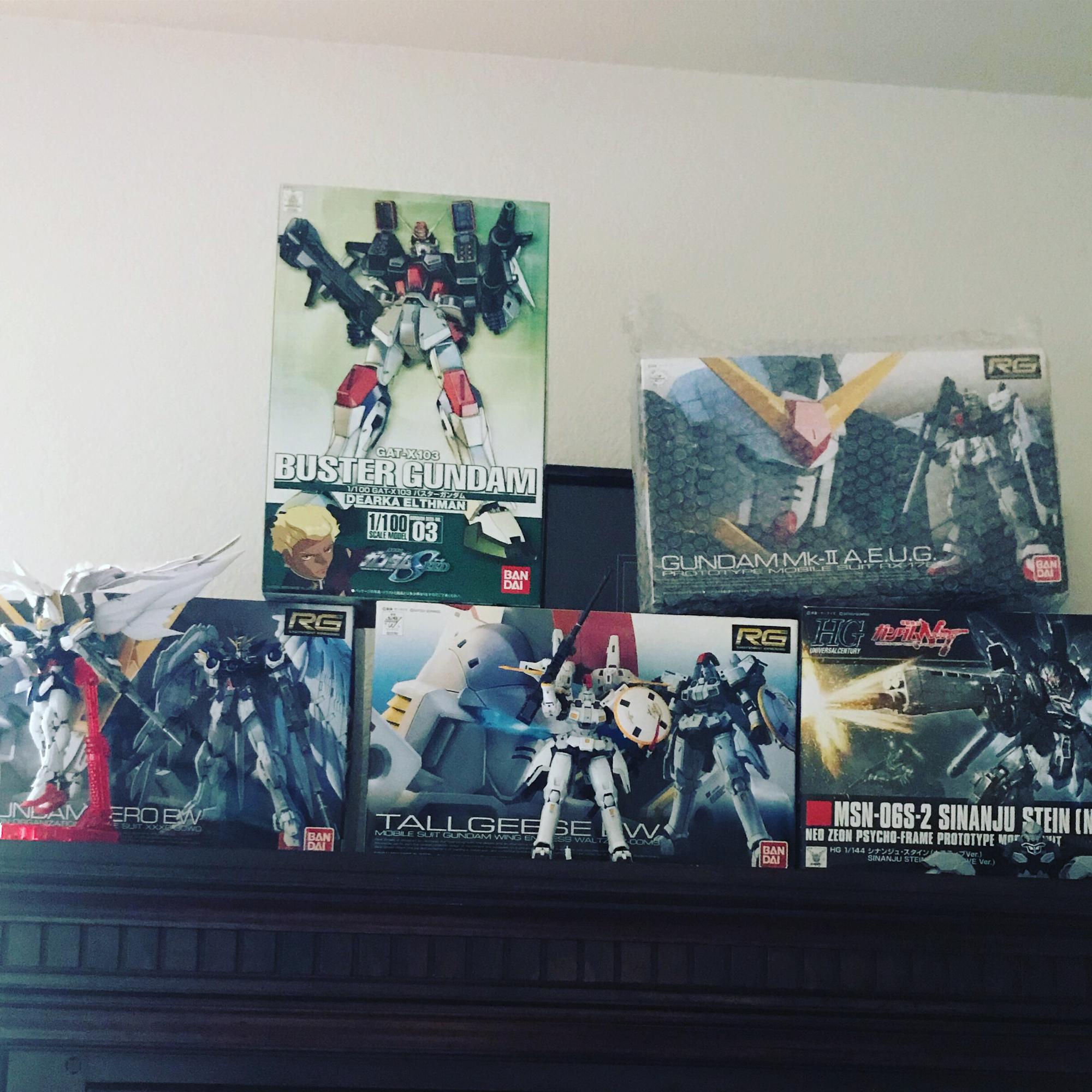 My set I have the Sinanju iv started then Gundam MK then Buster Gundam last! I love GUNPLA!